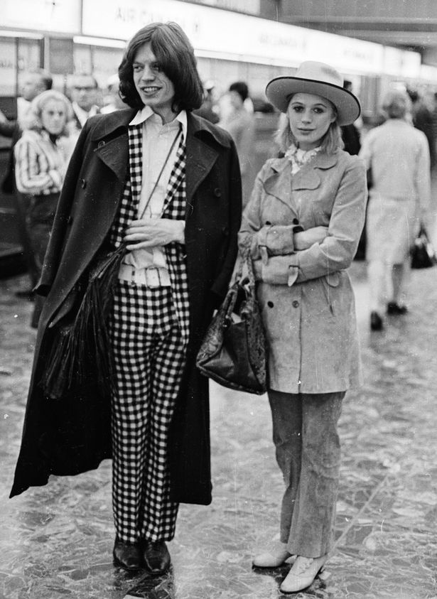 Jagger with Marianne Faithfull