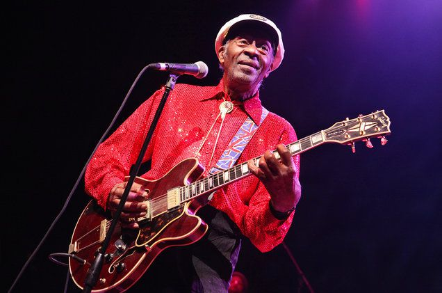 Chuck Berry performs at the Congress Theater on Jan. 1, 2011 in Chicago