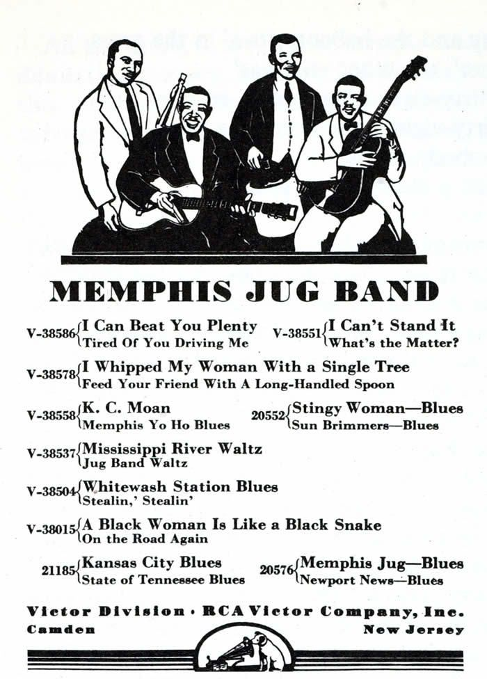 Memphis Jug Band early recordings for Victor Records. Photograph: GAB Archive/Redferns