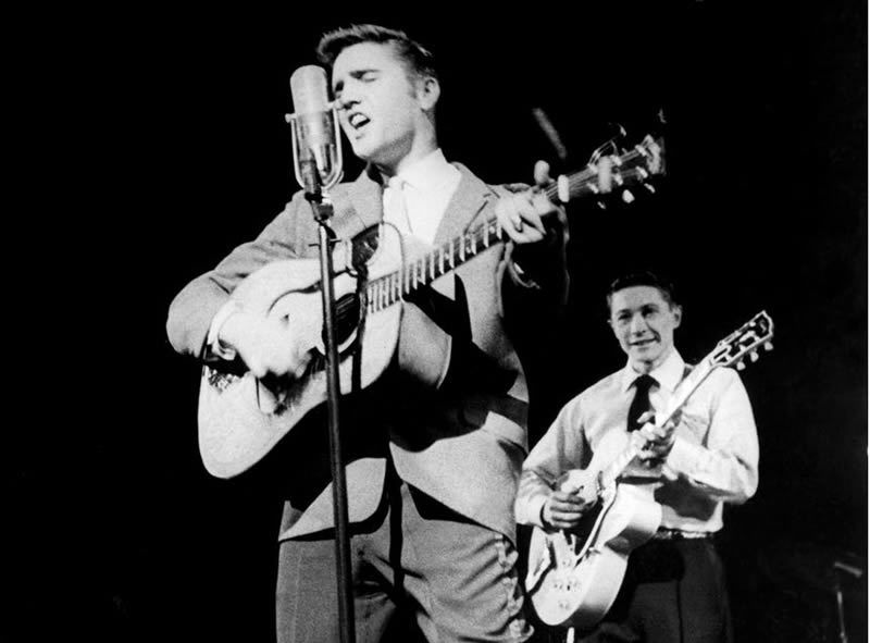Presley and Moore in 1956. Photograph: Everett/Rex Shutterstock