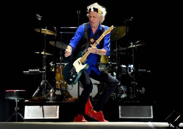Keith Richards: Not a pedal in sight