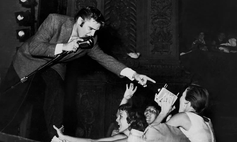 Elvis … The man who made history. Photograph: Don Wright/Time & Life Pictures/Getty Image