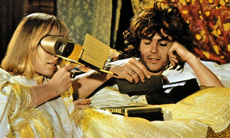 Anita Pallenberg and James Fox in Performance on which David Litvinoff worked as a 'dialogue adviser'. Photograph: Cinetext / Allstar Collection/Good Times