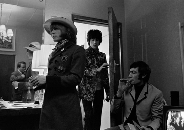 Les Rolling Stones backstage at the London Palladium. © Gered Mankowitz