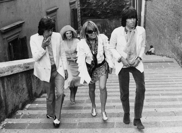 Mick Jagger, Marianne Faithfull, Anita Palenberg et Keith Richards