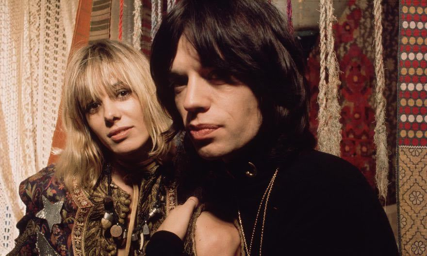 Anita Pallenberg and Mick Jagger in a scene from the 1970 film Performance. Photograph: Andrew Maclear/Getty Images