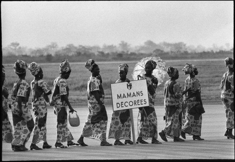 Bangui M'Poko : cérémonie de départ - 02 Décembre 1970