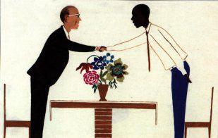 CENTRAFRIQUE : images souvenirs de SIBUT peintes par J. RAMEDANE