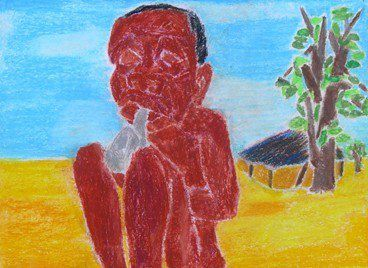 Encres en CENTRAFRIQUE : Charles TCHOKOTE - 1
