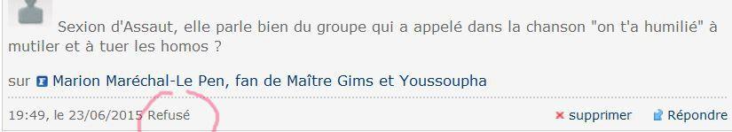 Il paraît que Marion Le Pen adore Sexion d'Assaut. Et vous ?