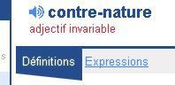 Le &quot&#x3B;contre-nature&quot&#x3B;, une invention purement culturelle