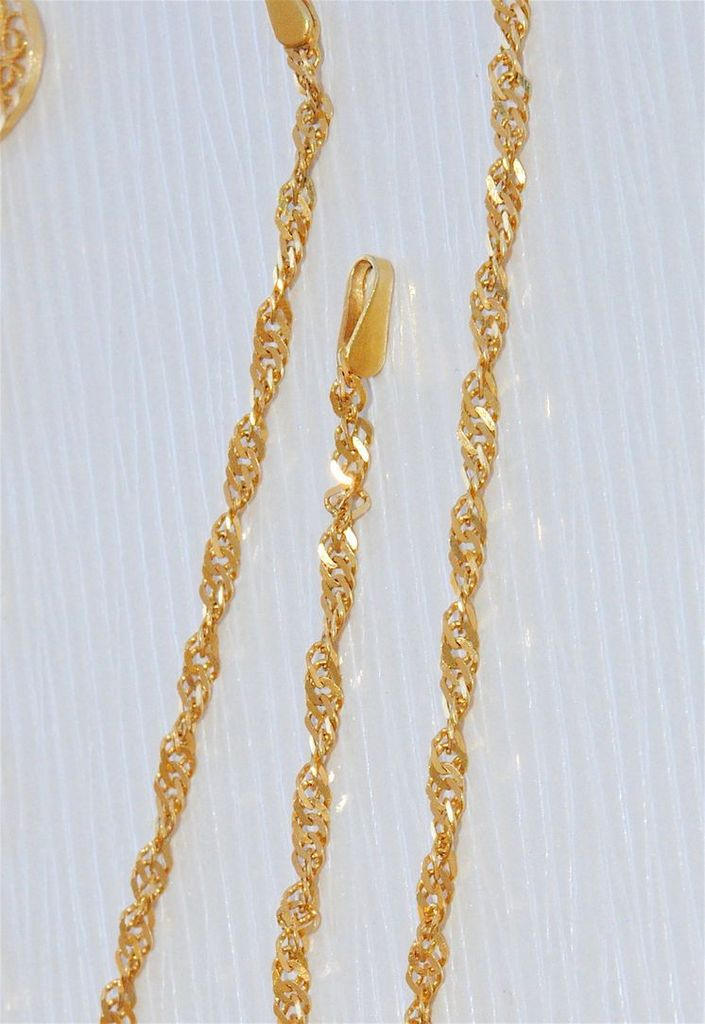 RARE COLLIER ORIENTAL OR JAUNE 18 K / EMAUX / A DECOR AJOURE ET PAMPILLES 19,18 gr   REF / AA 861