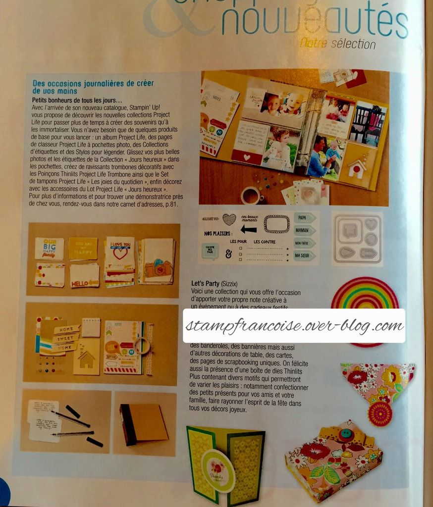 "Article presse  sur Stampin Up dans ""Passion scrapbooking"""