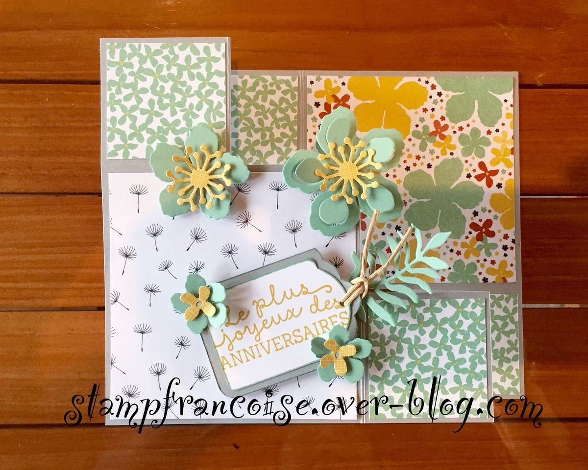 Carte escalier Papier et Tampons Stampin Up