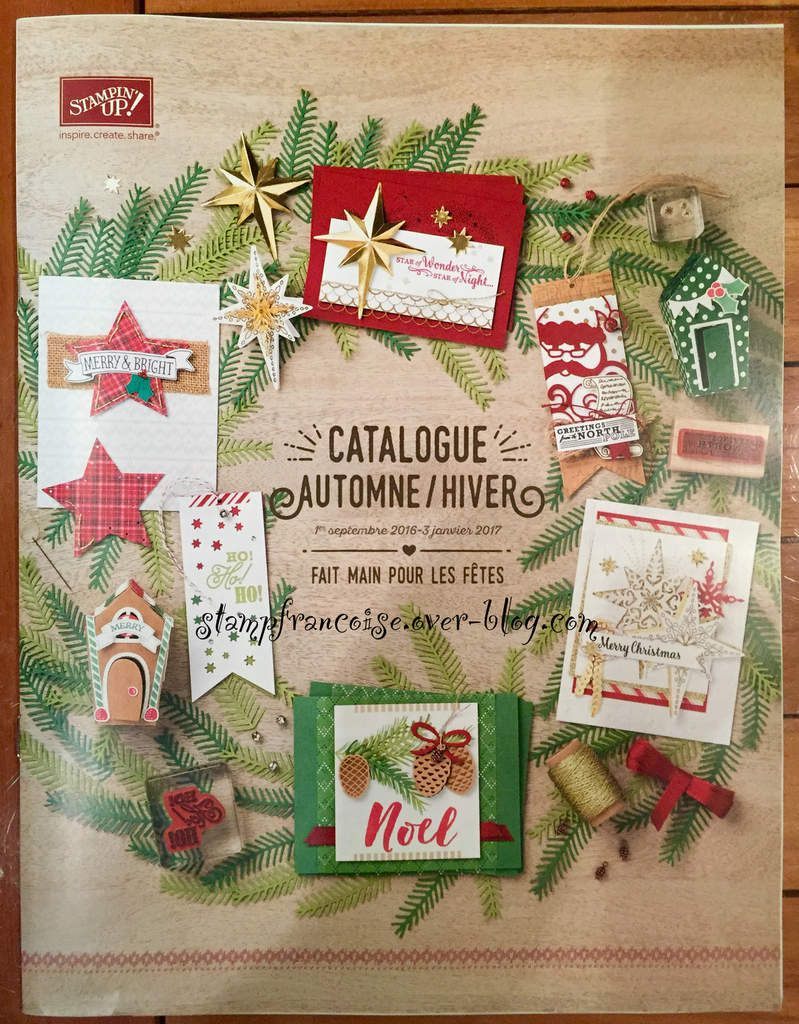 Stampin Up catalogue Automne / hiver 2016