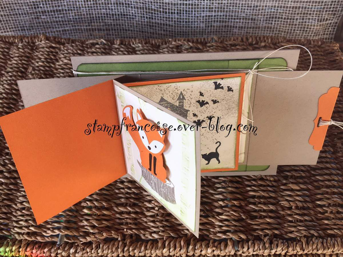 Projet d'Atelier Halloween démonstration Stampin Up