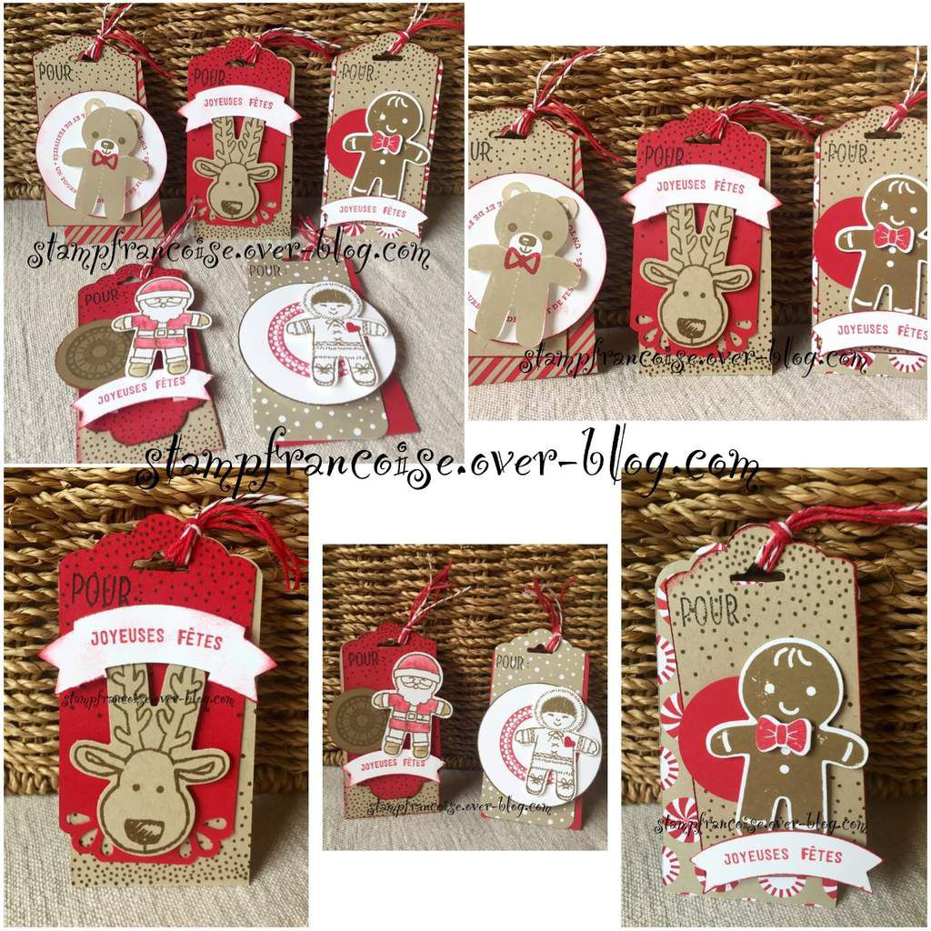 Stampin Up Atelier gratuit de demonstration etiquettes Tag Noel Chrismas