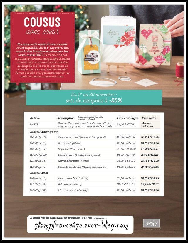 tampons Stampin Up en promotions exceptionnels du 1er novembre au 30 novembre