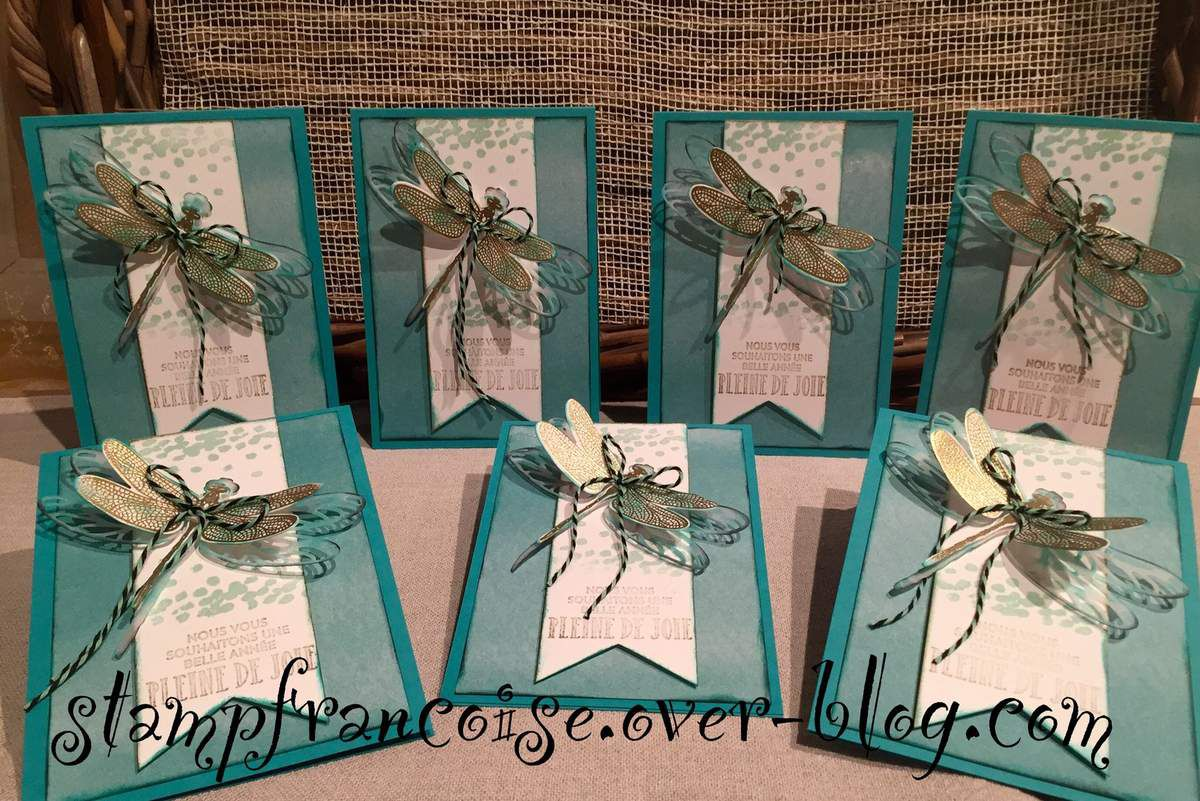 set Stampin up Songes de libellule et les thinlits libellule ouvragée / Dragonfly Dreams and Dragonfly Thinlit Dies