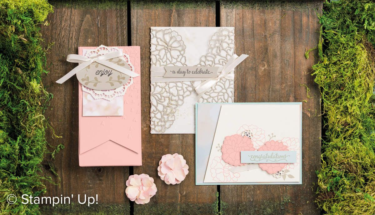 Stampin Up lot Amour fou collection Amour naissant / So in Love