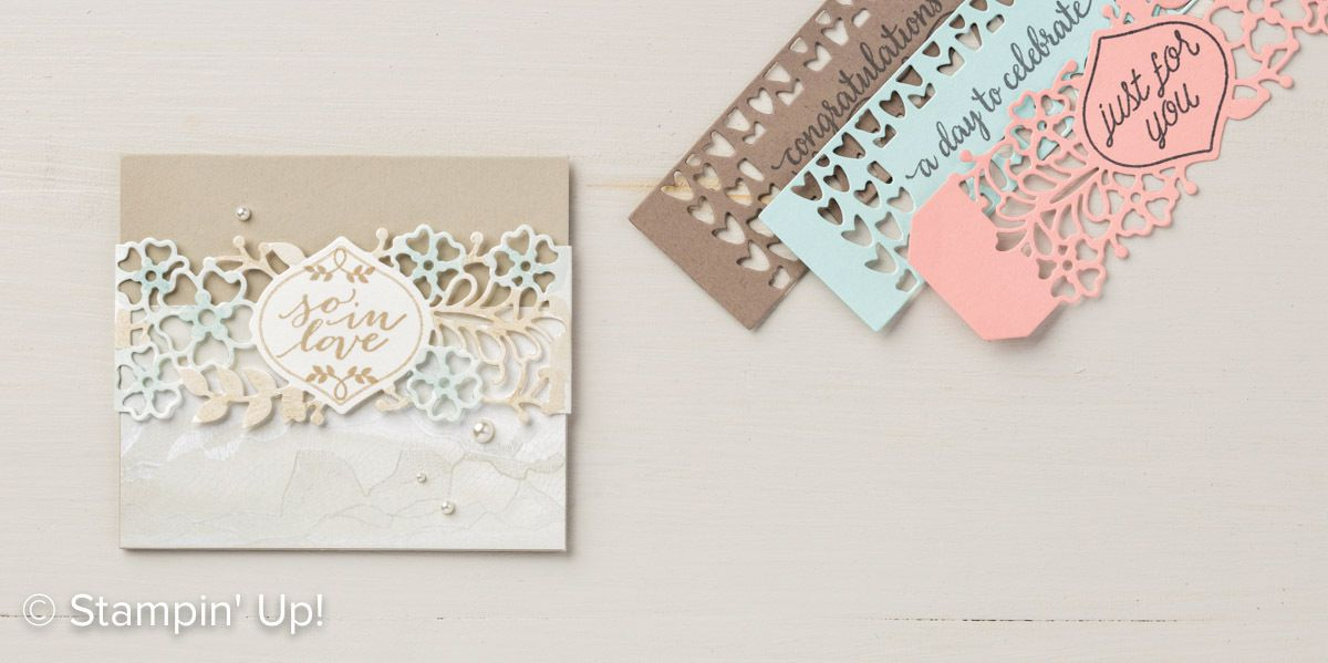 Stampin Up lot Amour fou collection Amour naissant /So in Love Stamp Set & So Detailed Thinlits