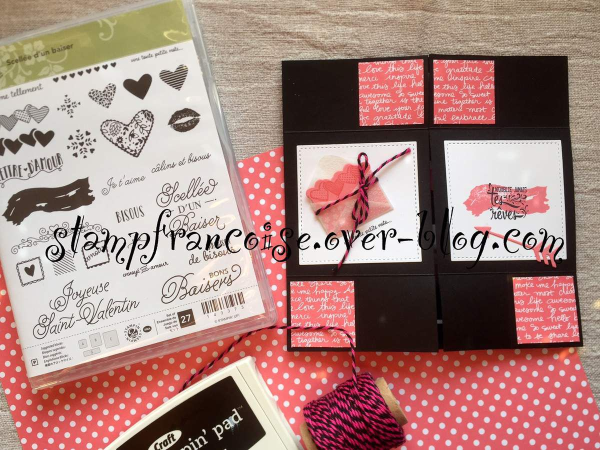 "Stampin'Up ""carte sans fin"" scellée d'un baisé/Sealed with Love Bundle"