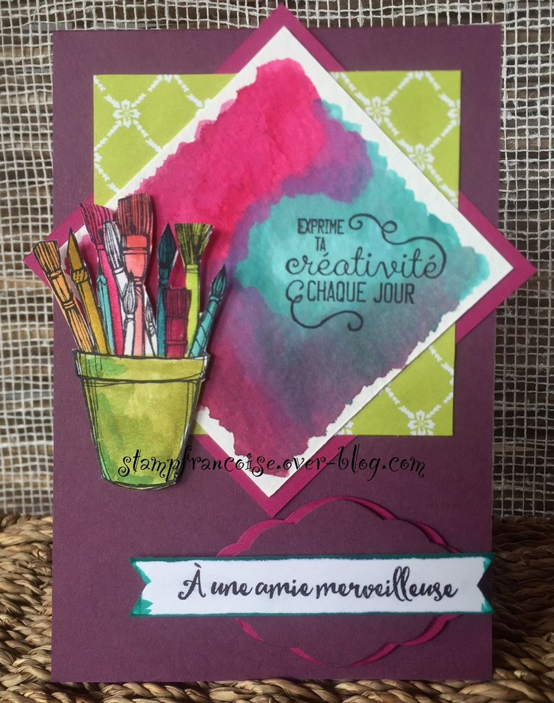 """Stampin' Up  set Créativité toujours / """"Crafting Forever"""" card featuring 2017-2019"""