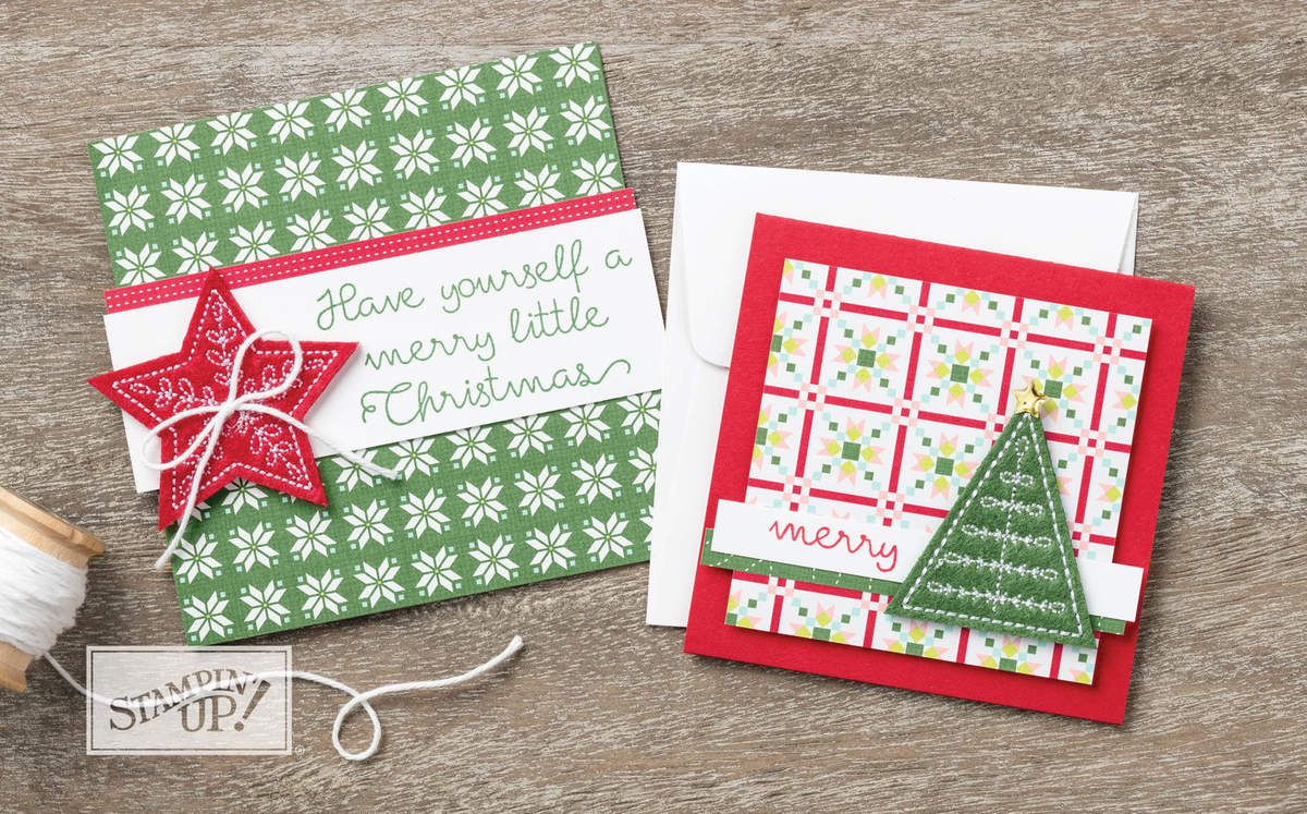 STAMPIN'UP    l'etoffe de Noël / Quilted Christmas Suite by Stampin' Up!