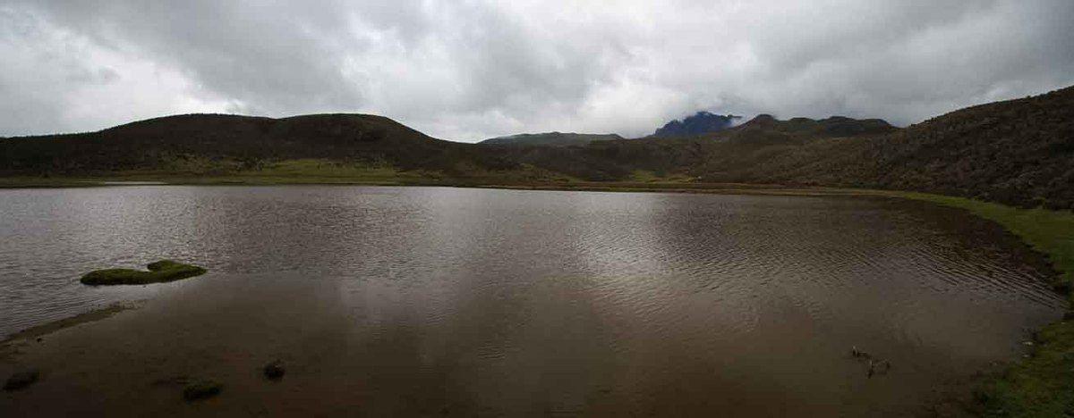 Parc Cotopaxi. Vous voyez un volcan vous ? Non ? bah... Nous non plus !!