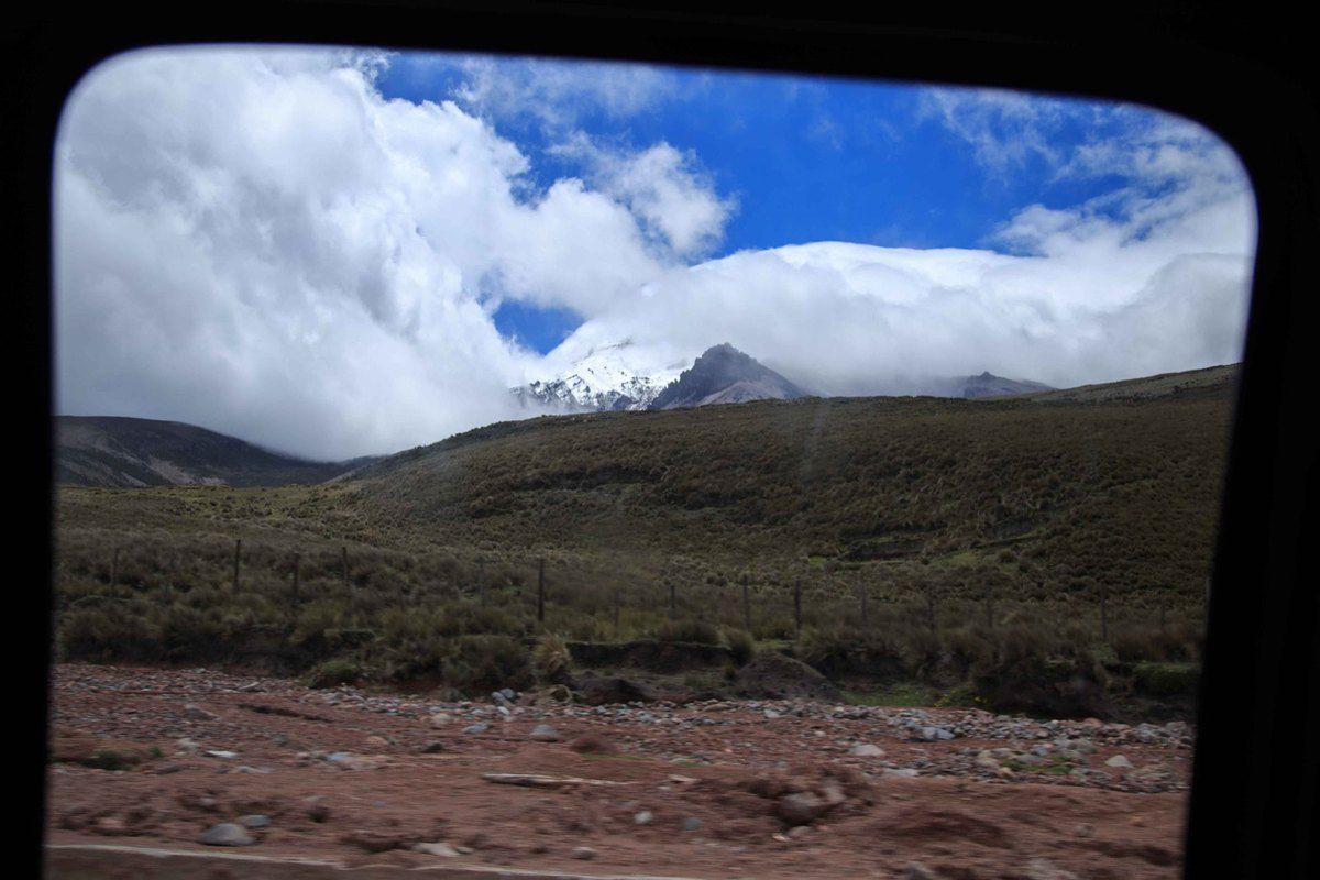 Ce que nous aurons pu voir du volcan...