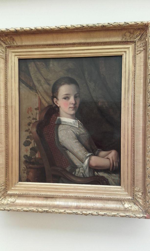 """Trois portraits de Gustave Courbet... Zélie vers 1842, Juliette vers 1844 & Autoportrait de Courbet dit """"Courbet au chien"""""""