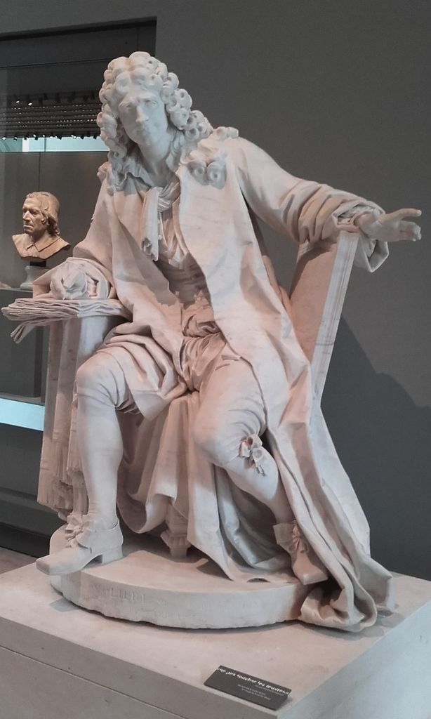 """Jean-Baptiste Poquelin dit """"Molière"""" (1622-1673) D'après Jean-Jacques Caffieri (1725-1792)"""
