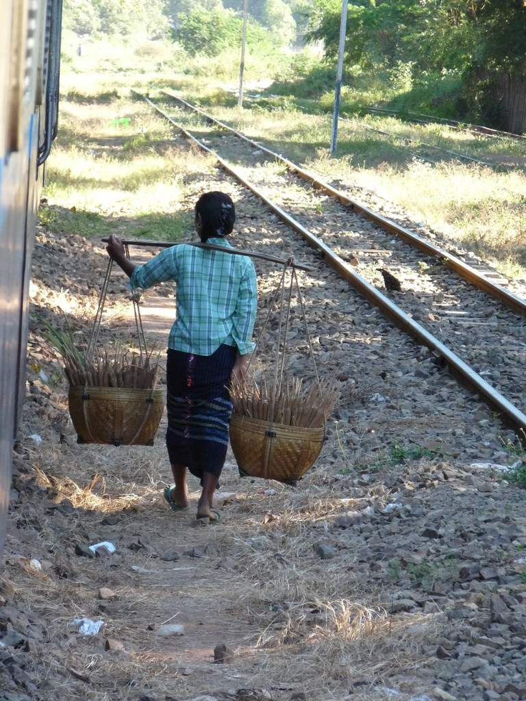 Voyage en train entre Yangon et Bagan