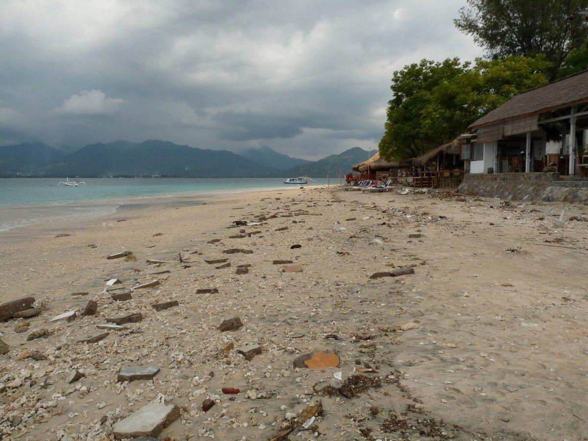 """Gili Air : le """"port"""" et les plages de la côte Est"""