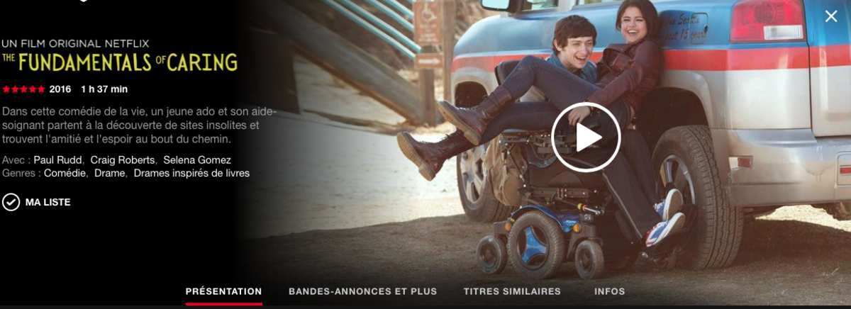 Mon avis sur &quot&#x3B;The fundamentals of caring&quot&#x3B;