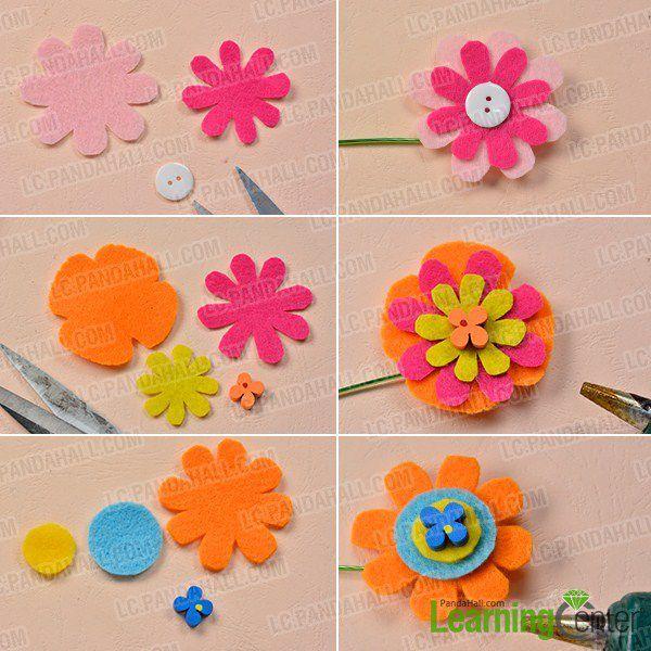 comment faire des fleurs avec boutons et perles belle perle. Black Bedroom Furniture Sets. Home Design Ideas