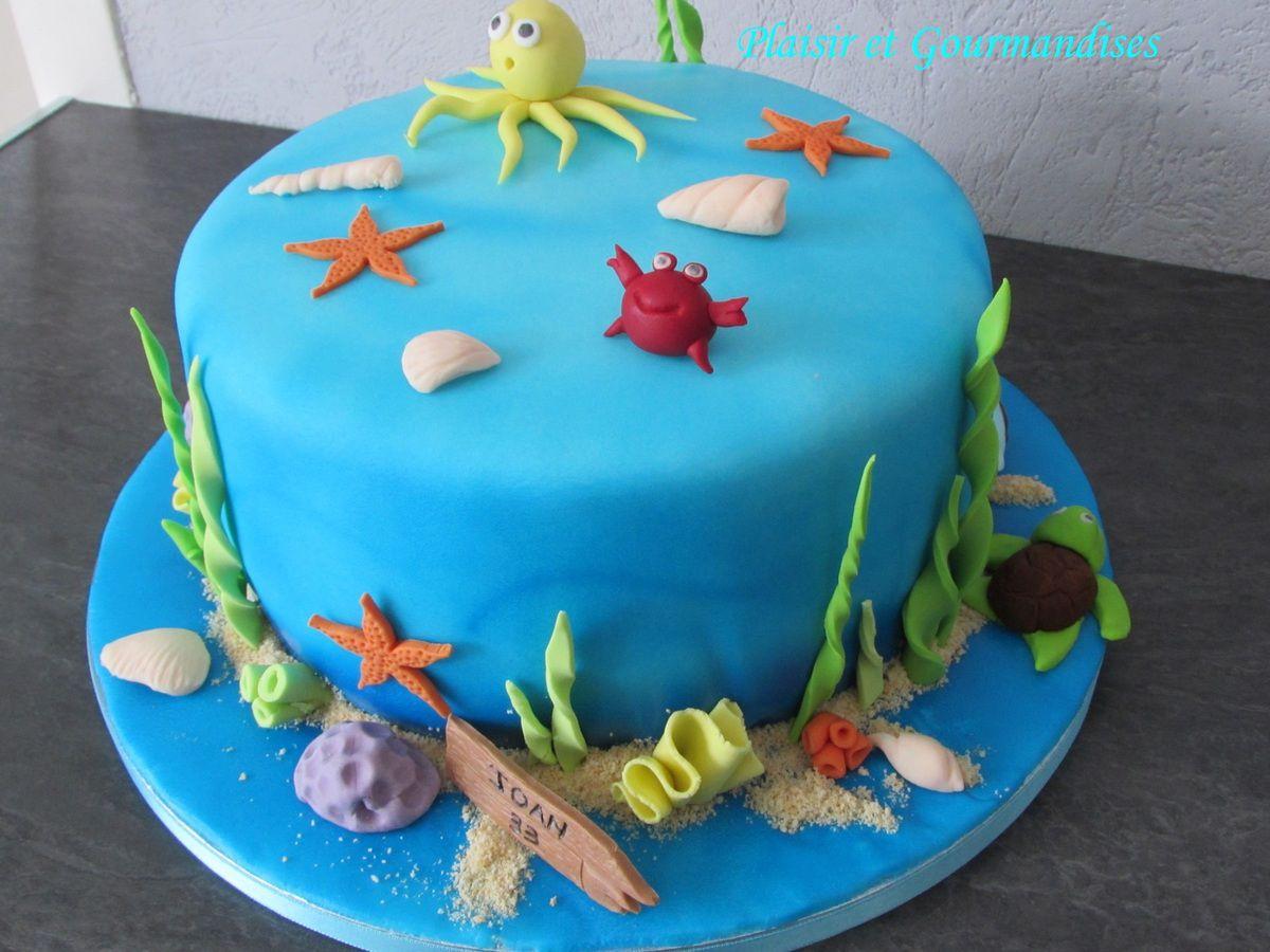 Gâteau fonds marins