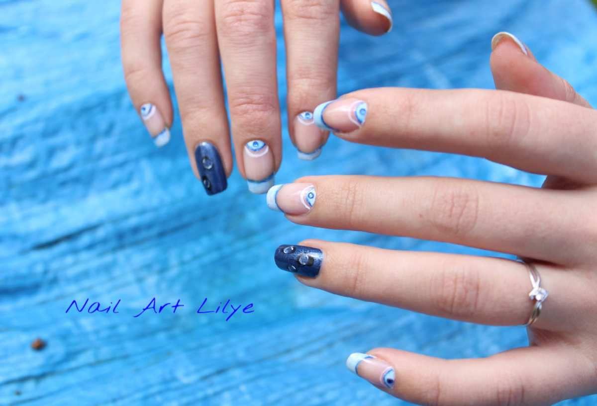 Nail art gouttes d'eau