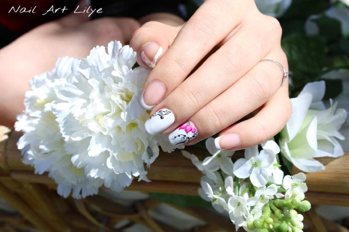 Nail art french idéale mariage
