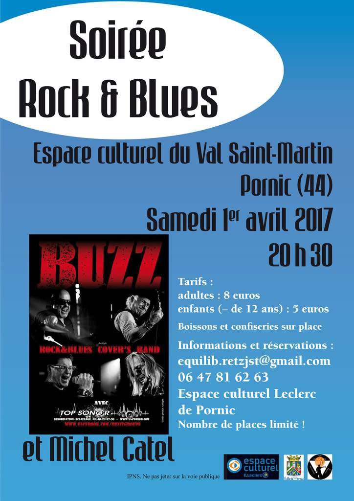 Concert de rock et blues le 1er avril 2017