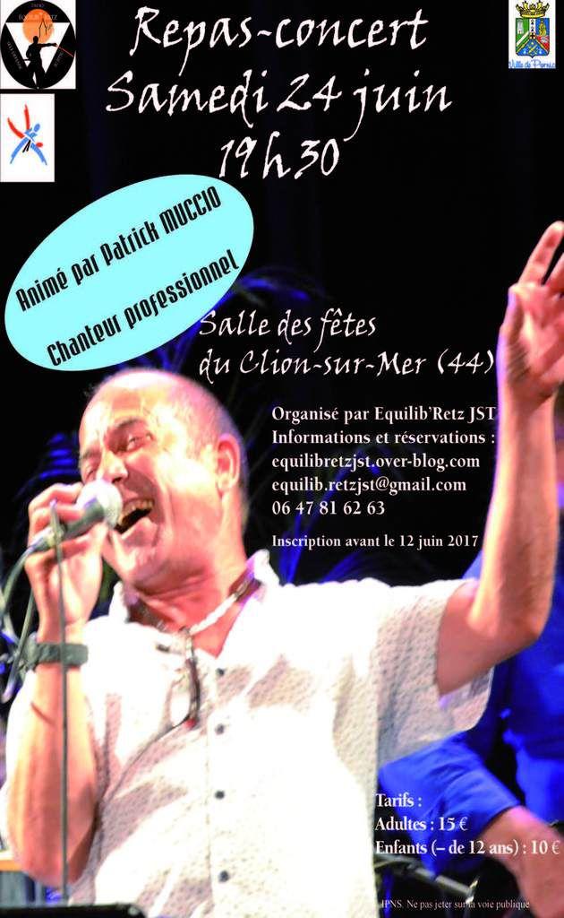 Repas-concert le 24 juin 2017 au Clion-sur-Mer