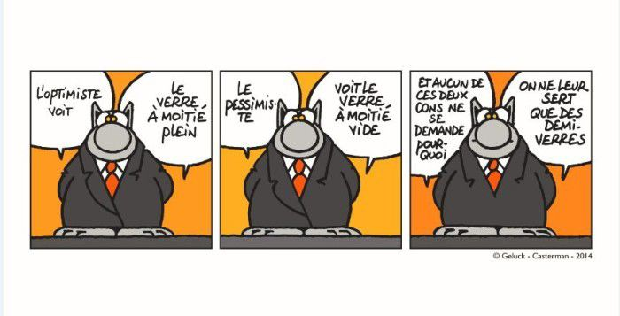 L'optimisme vu par Le Chat !