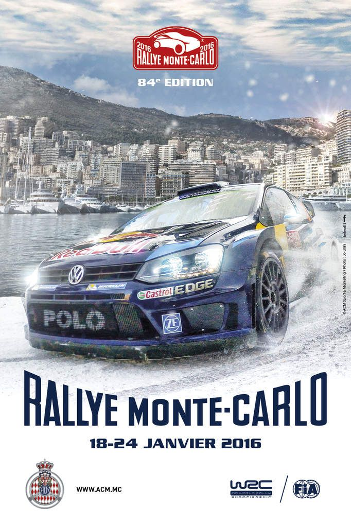 affiche du rallye monte carlo 2016 rallye passion france. Black Bedroom Furniture Sets. Home Design Ideas