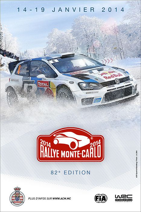 affiche du rallye monte carlo rallye passion france. Black Bedroom Furniture Sets. Home Design Ideas