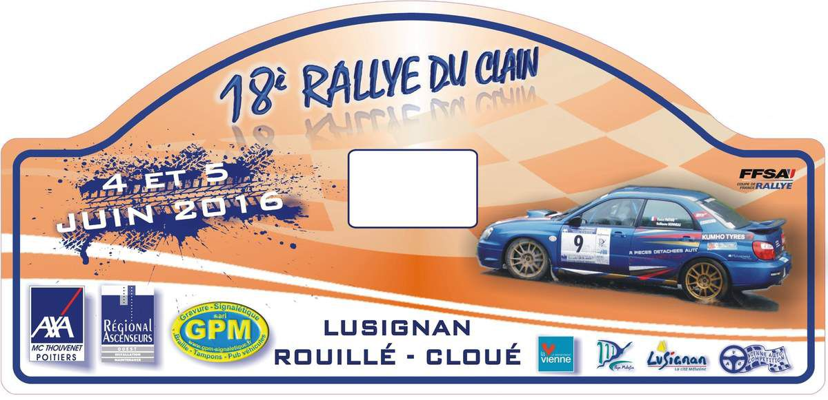 rallye du clain 2016 questions l 39 organisateur rallye passion france. Black Bedroom Furniture Sets. Home Design Ideas