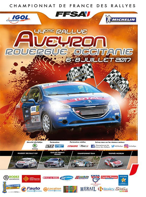 Calendrier 2017 rallyes championnat de France