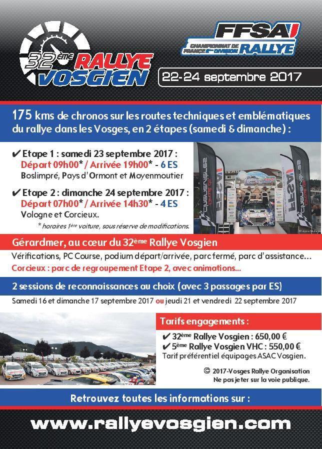 Le Rallye VOSGIEN  23 et 24 septembre innove encore...