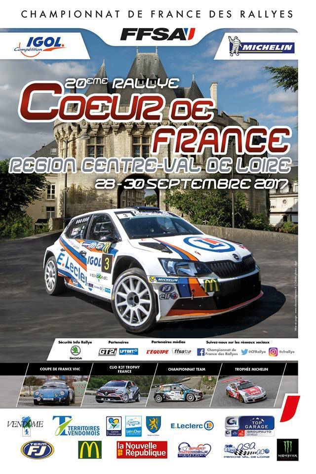 communiqué FFSA/ Rallye COEUR DE FRANCE 2017