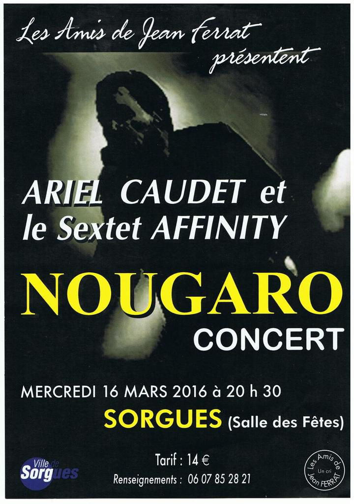 Nougaro concert avec Ariel Caudet le 16 mars 2016