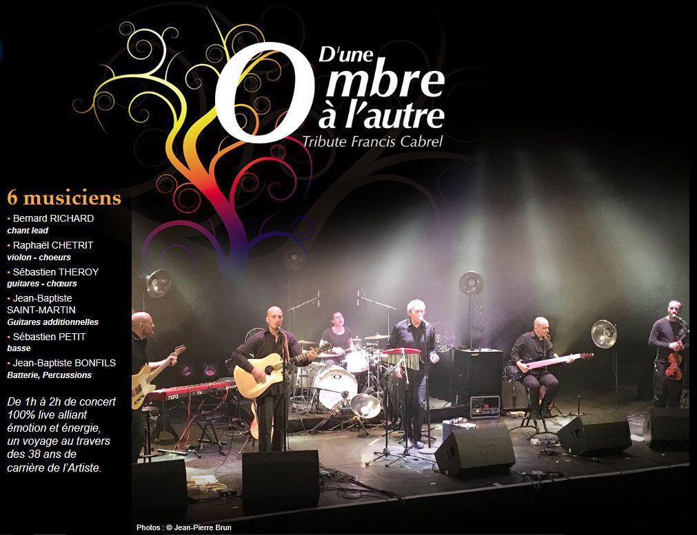 Concert hommage à Françis Cabrel le vendredi 17 février 20h 30 Salle des Fêtes de Sorgues